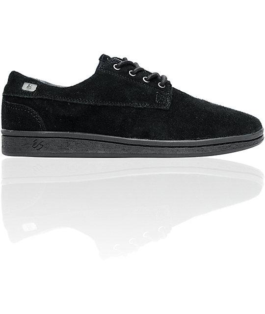 eS Radius Black Suede Skate Shoes