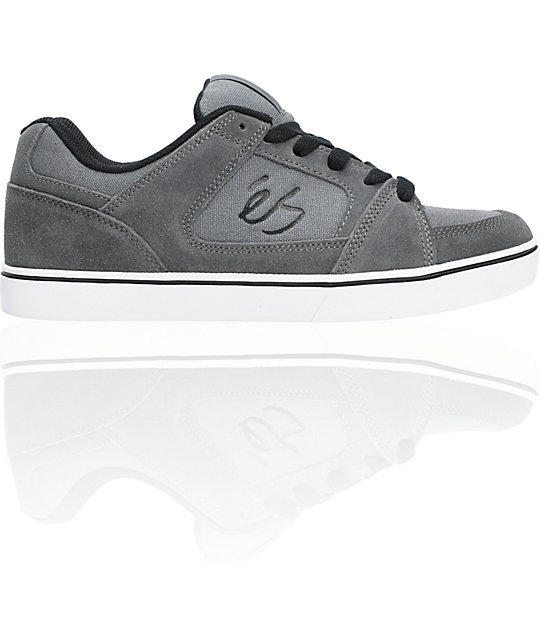eS Slant Grey & Black Skate Shoes