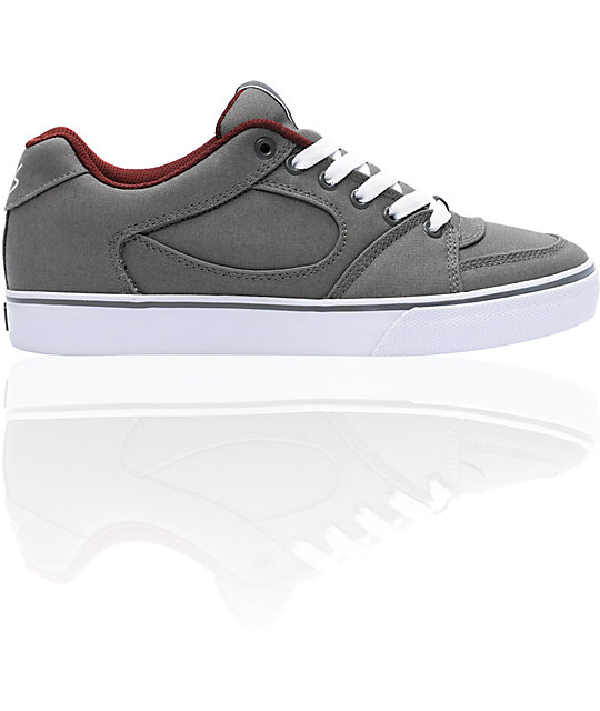 eS Square One Dark Grey & White Canvas Skate Shoes