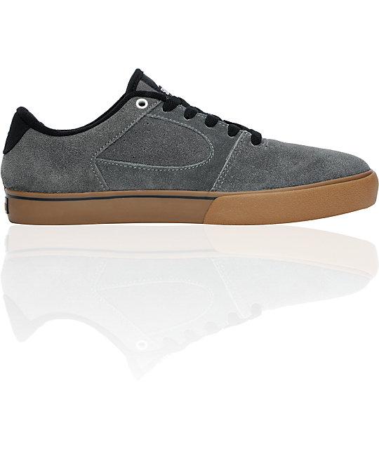 eS Square Two Fusion Mcdonald 5Boro NYC Grey & Gum Skate Shoes