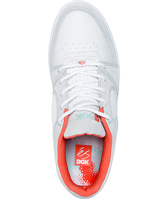 eS x DGK Accel Slim Grey & White Skate Shoes