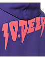 10 Deep Sound And Furry Purple & Pink Pullover Hoodie