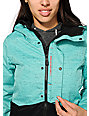 686 Authentic Rumor Blue & Grey Textile 10K Snowboard Jacket