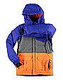 686 Boys Onyx Cobalt, Grey & Orange 10K Snowboard Jacket