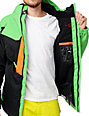 686 Iconic 8K Grass Green & Orange Snowboard Jacket