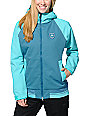 686 Mannual Cheer Turquoise & Teal 8K Snowboard Jacket