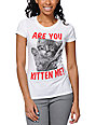 A-Lab Are You Kitten Me White T-Shirt