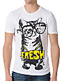 A-Lab Cat Glasses White T-Shirt