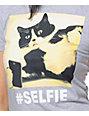 A-Lab Selfie Grey Boyfriend T-Shirt