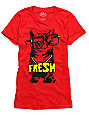 A-lab Cat Glasses Red T-Shirt