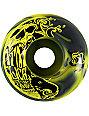 ATM Skull Yellow & Black Swirl Skateboard Wheels