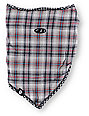 Airhole Black Plaid Reversible Face Mask Bandana