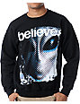 Alien Workshop Believe Black Crew Neck Sweatshirt