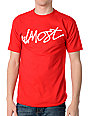 Almost Slippery Slope Red T-Shirt