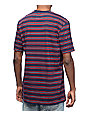 Altamont Leroy Striped Red & Navy Pocket T-Shirt