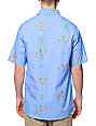 Altamont Skatebirds Blue Print Button Up Shirt
