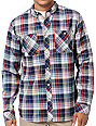 Analog Balance ATF Moon Blue Plaid Flannel Shirt
