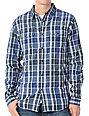 Analog Spacey Royal Blue Mens Long Sleeve Woven Shirt