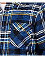 Analog Summit Blue Flannel Shirt