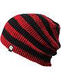 Aperture Estebon Red & Black Stripe Beanie