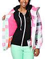 Aperture Girl Pow Pow Lines White 10K Snowboard Jacket
