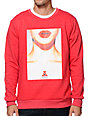 Asphalt Yacht Club Clavicle Red Crew Neck Sweatshirt