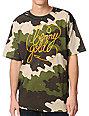 Benny Gold Fog Camo Green & Orange T-Shirt