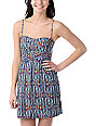 Billabong Charity Bandeau Grey Print Tube Dress