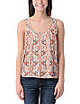 Billabong Field Tripper Native Print Peach Tank Top