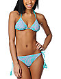 Billabong Harper Pink & Teal Crochet Triangle Bikini Top