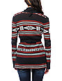 Billabong Issah Tie Native Print Cardigan Sweater