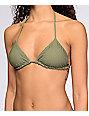 Billabong Meshin With You Olive Triangle Bikini Top