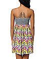 Billabong Mixin It Up Bustier Strapless Dress
