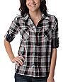 Billabong Sharpe Black Plaid Woven Shirt