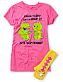 Bitter Sweet Bite Your Friend Graphic T-Shirt & Hand Warmer Pack