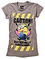 Bitter Sweet Caution Charcoal Grey T-Shirt