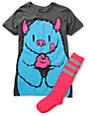Bitter Sweet Monsterlicious Graphic T-Shirt & Socks Pack