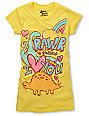 Bitter Sweet Rawr Love You Yellow Glitter T-Shirt