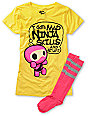 Bitter Sweet Skills & Stuff Yellow T-Shirt & Sock Pack
