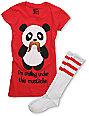 Bitter Sweet Under Mustache T-Shirt & Tube Socks Pack