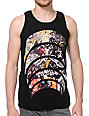 Black Scale Death Crescent Black Tank Top