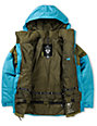 Burton Boys TWC Warm & Friendly 10K Olive & Blue Snowboard Jacket 2013