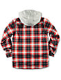 Burton Boys Uproar Red Milk Plaid Print Snowboard Jacket