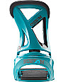Burton Custom Teal Mens Snowboard Bindings