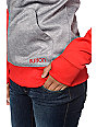 Burton Heron Red & Grey Pullover Tech Fleece Jacket