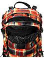 Burton Rider's Pack Majestic Black Plaid Snowboard Backpack