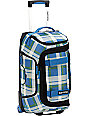 Burton Tech Light 21 Green & Blue Plaid Carry-On Roller Bag