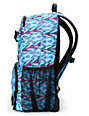 Burton Treble Yell Blue-Ray Nouveau Neon Print Backpack