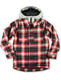Burton Uproar Youth Red Milk Plaid Print Snowboard Jacket