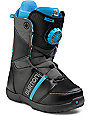 Burton Zipline Black & Blue Kids Snowboard Boots